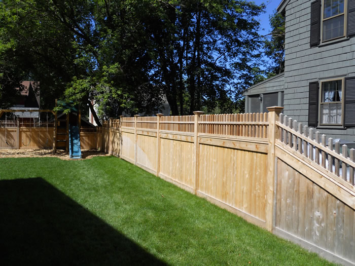 Semi Privacy Fence Seacoast Nh Platinum Fence Hampton